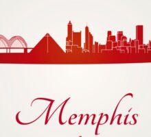 Memphis skyline in red Sticker
