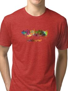 Melbourne skyline in watercolor Tri-blend T-Shirt