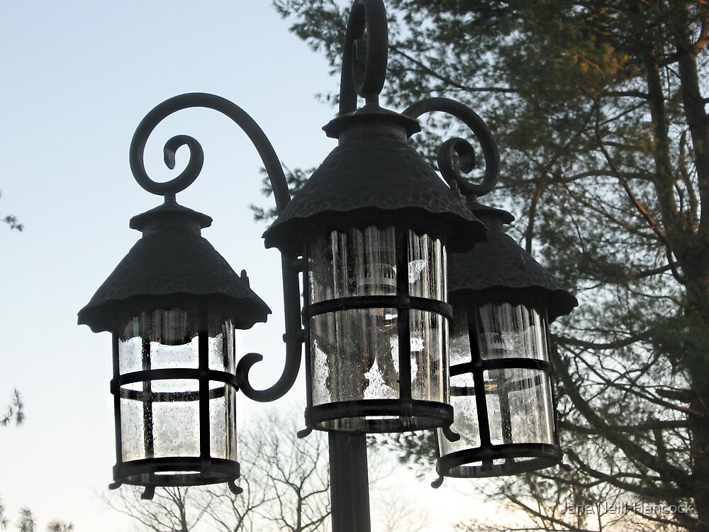 Wrought Iron Street Lamps by Jane Neill-Hancock