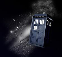 TARDIS in Space by ThePaintedLady