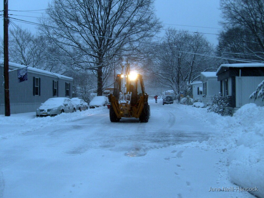 Plowing Away The Snow by Jane Neill-Hancock