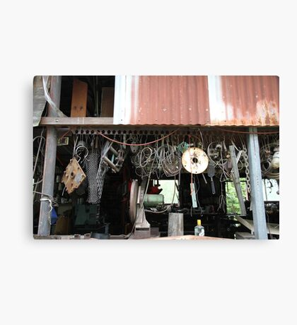 Old Work Shed Canvas Print