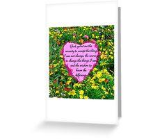 YELLOW WILDFLOWER SERENITY PRAYER Greeting Card