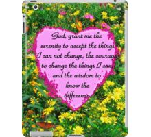 YELLOW WILDFLOWER SERENITY PRAYER iPad Case/Skin