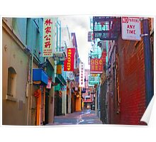 Alley in Chinatown Poster