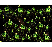 Skeleton space invaders Photographic Print