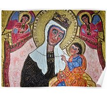 The Grotto - Madonna Enthroned Poster