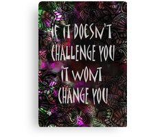 Challenge Q Canvas Print