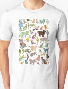 a lot of cats in vintage wallpaper T-Shirt