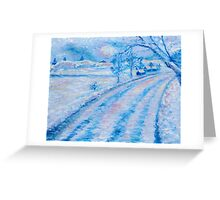 Country NIght in Blue Greeting Card