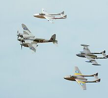 De Havilland Flypast. A Mosquito  2 Vampires and a Venom by Barry Culling