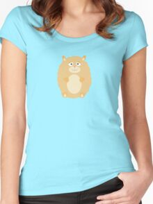 Fluffy Hamster Women's Fitted Scoop T-Shirt