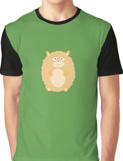 Fluffy Hamster Graphic T-Shirt