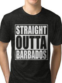 Straight Outta Barbados Tri-blend T-Shirt