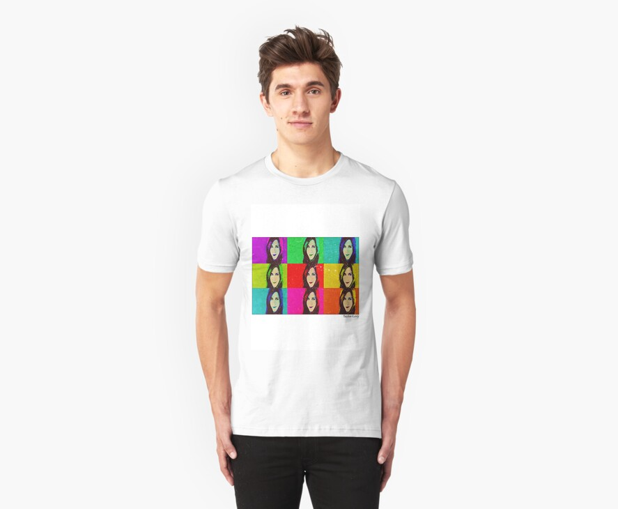 Jennifer Aniston Pop Art T-shirt by Daniel  Taylor