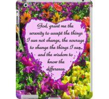 PURPLE WILD FLOWER SERENITY PRAYER PHOTO iPad Case/Skin