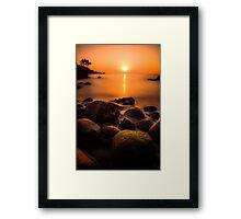 Sunset in Goa (no frame) Framed Print