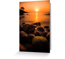 Sunset in Goa (no frame) Greeting Card