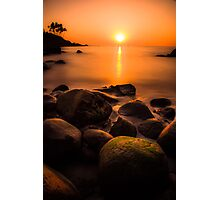Sunset in Goa (no frame) Photographic Print