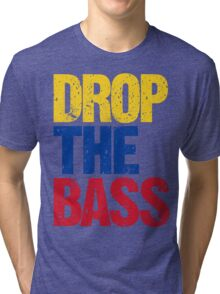 DROP THE BASS (Colombia) Tri-blend T-Shirt