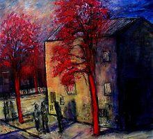 under the red tree's by glennbrady