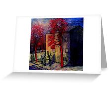 under the red tree's Greeting Card