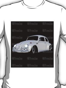 Das VW-Freaks White Beetle (Black BG) T-Shirt