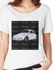 Das VW-Freaks White Beetle (Black BG) Women's Relaxed Fit T-Shirt