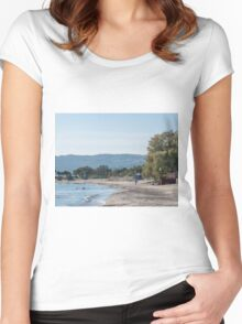 Paradise Beach  Kos   Greece Women's Fitted Scoop T-Shirt