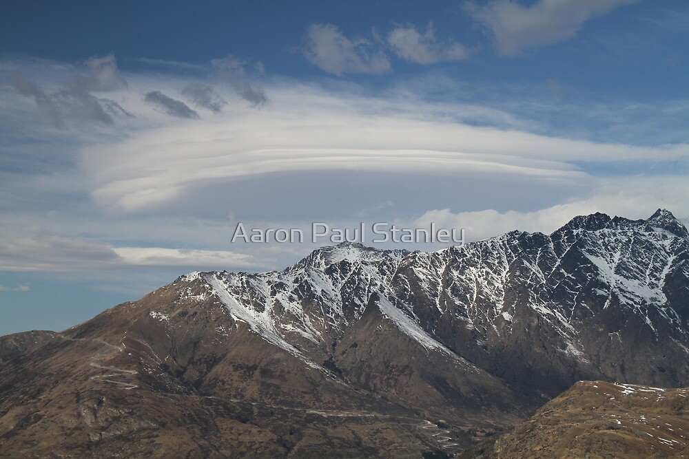Lenticular Clouds overlooking The Remarkables by Aaron Paul Stanley