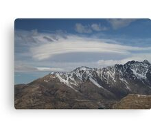 Lenticular Clouds overlooking The Remarkables Canvas Print