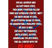 The Big Bang Theory Theme song - White version Photographic Print