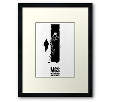 Metal Gear Solid - Subsistance Framed Print