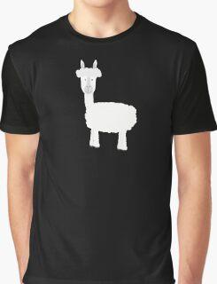 White Alpaca Graphic T-Shirt