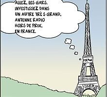 la tour eiffel en dessin comique satire by Binary-Options