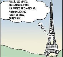 la tour eiffel en dessin comique satire by Binary-Options