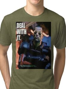 Commander Shepard- Deal with it Tri-blend T-Shirt