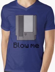 NES cartridge- blow me Mens V-Neck T-Shirt