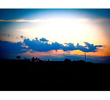 Blur Sunset Photographic Print