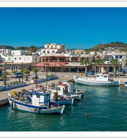 View of the marina Kardamena  Island of Kos Sticker