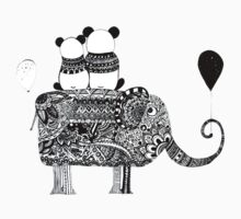 Panda. Love. Elephant travel Kids Tee