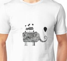 Panda. Love. Elephant travel Unisex T-Shirt