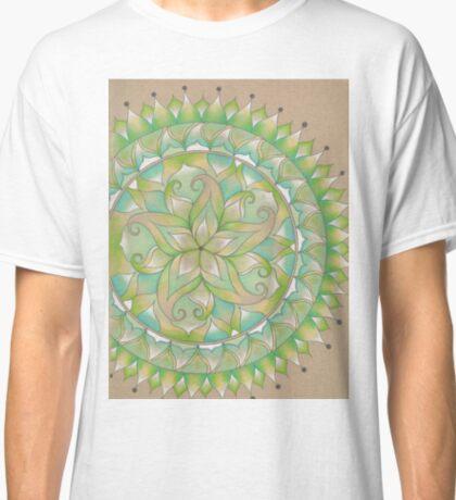 Green Flower Mandala Classic T-Shirt