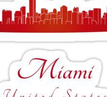 Miami skyline in red Sticker