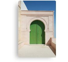 old green gate Canvas Print