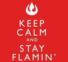 Keep Calm and Stay Flamin' One Piece - Short Sleeve
