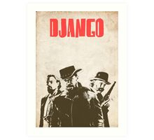 Django Unchained illustration Wild West Style Poster Art Print