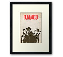Django Unchained illustration Wild West Style Poster Framed Print