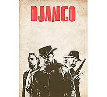 Django Unchained illustration Wild West Style Poster Photographic Print