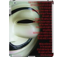 V FOR VENDETTA V's speech iPad Case/Skin
